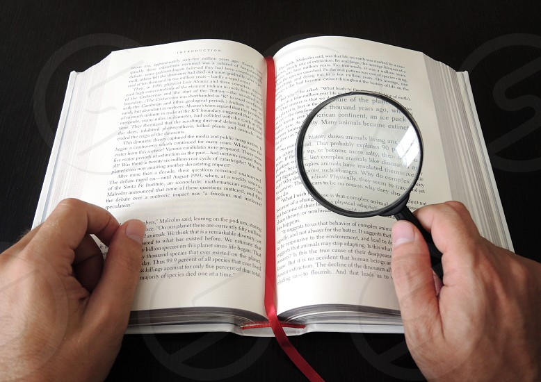 black magnifying glass photo