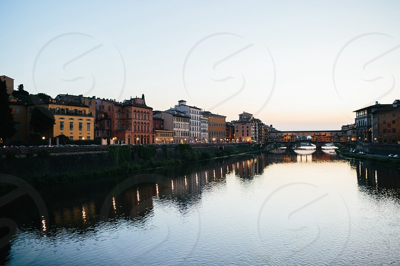 Florence Italy at sunset. photo