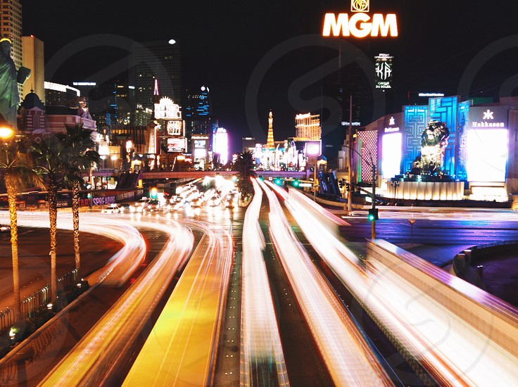 Long exposure of the Vegas strip photo