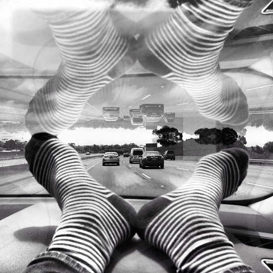 black and white sock  photo