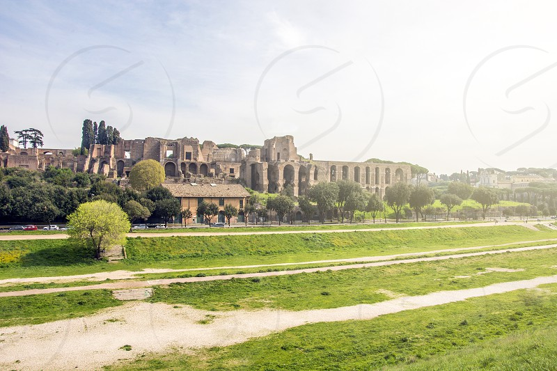 The Circus Maximus is an ancient Roman chariot racing stadium and mass entertainment venue located in Rome photo