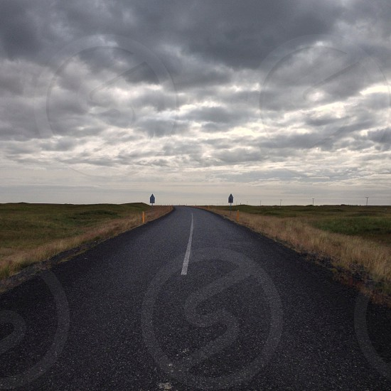 Icelandic highway photo