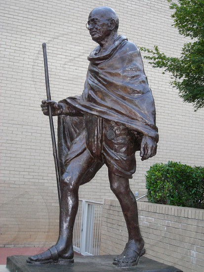 Gandhi statue outside Marbles Kids Museum in Raleigh NC photo