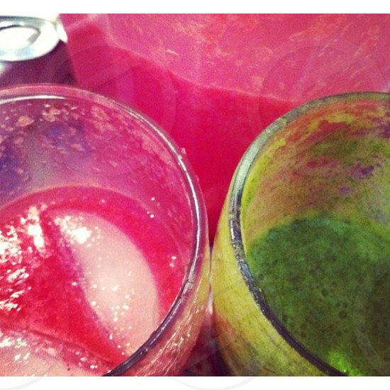 smoothies in glasses photo