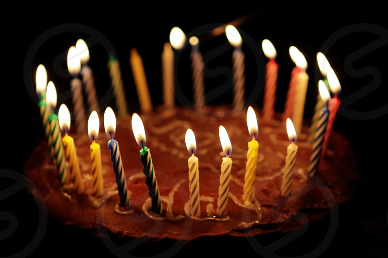 birthday cake cake with candles lighting candles birthday celebration photo