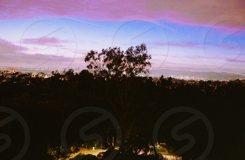 Clouds sky sunset cityscape  photo