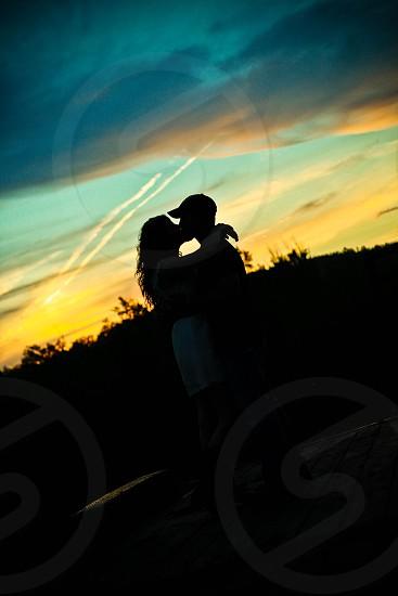 Love at dusk photo
