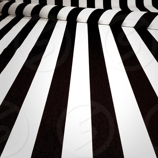 white and black textile photo