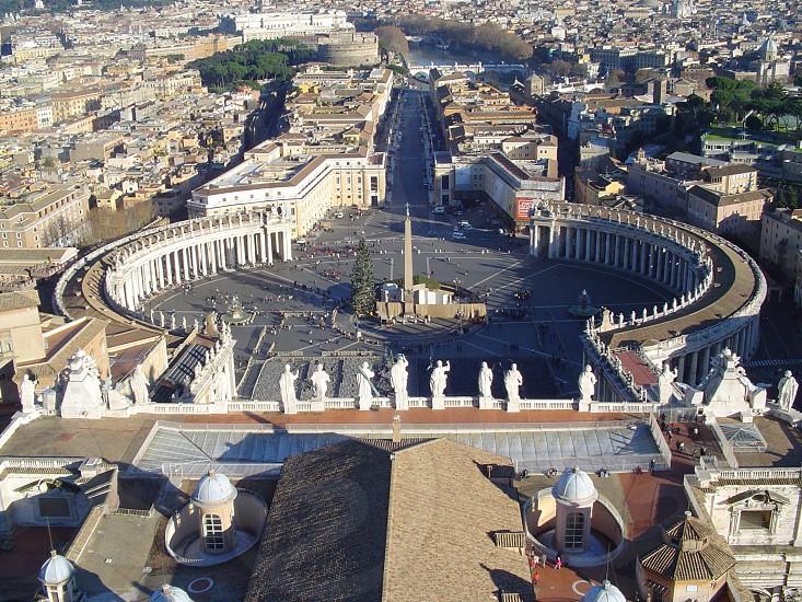 Overlooking the Vatican plaza photo