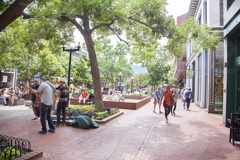 Pearl Street Mall; Boulder; Colorado; travel; shopping photo