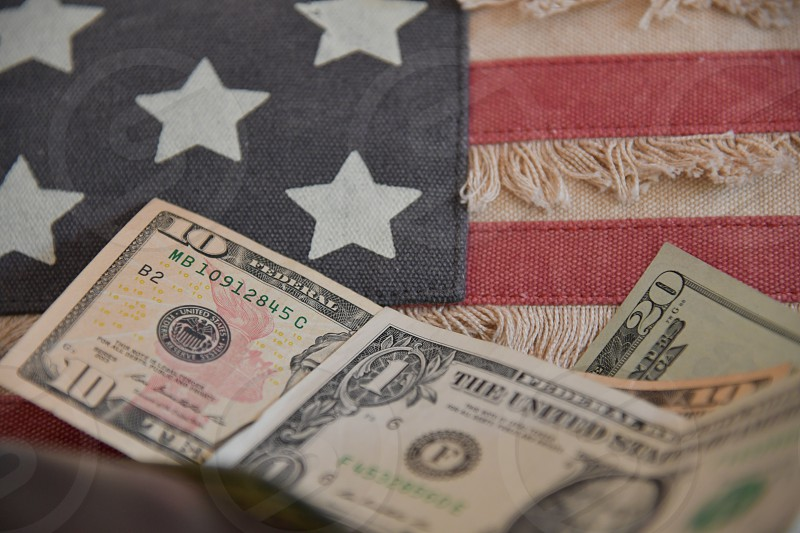 US dollar bills photo