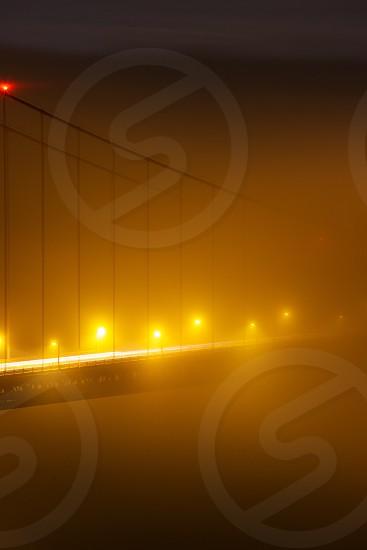 Golden Gate through fog photo