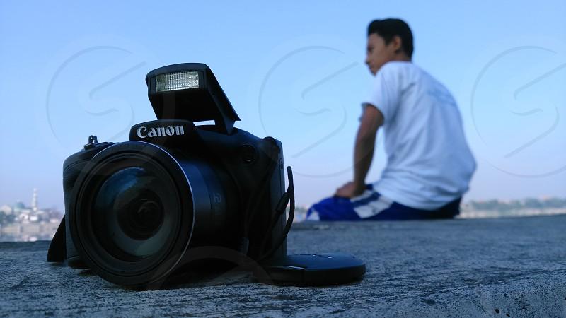 camera and boy photo