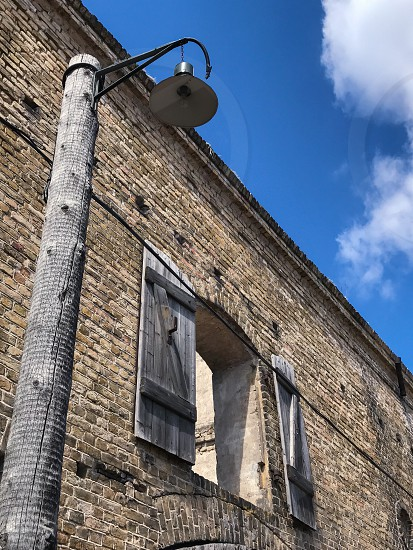 Outdoor day vertical portrait colour Riga Ghetto and Latvian Holocaust Museum Riga Latvia Europe European Jewish Ghetto Quarter historic World War Two Second World War WWII WW2 Architecture brick building photo