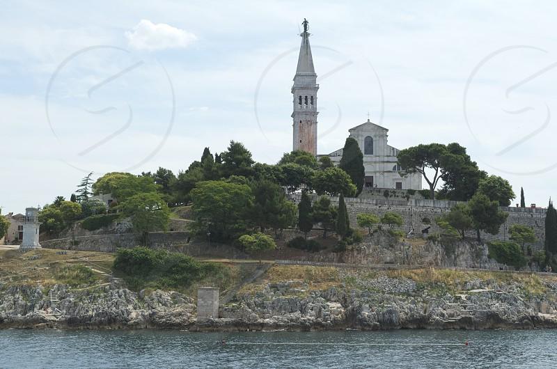 Church of Saint Euphemia Rovinj Rovigno Istria Croatia West Side from the Sea photo