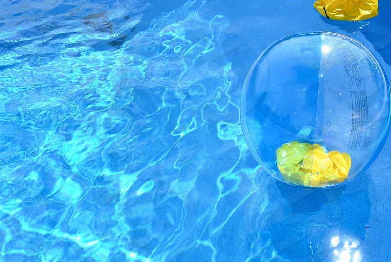 clear rubber beach ball photo