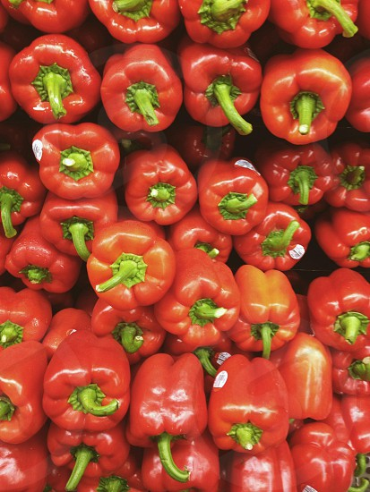 Red peppers photo
