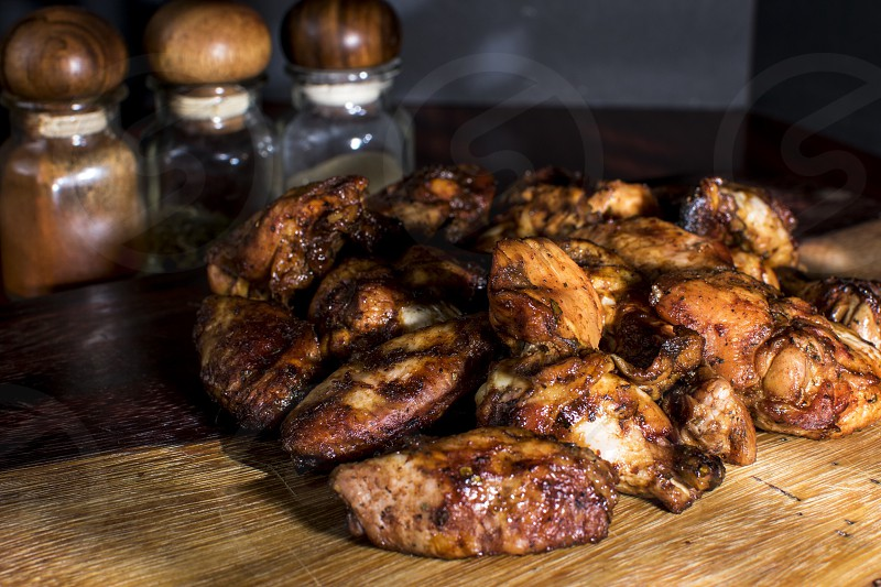 smoked chicken wings photo