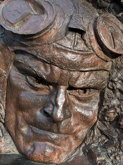 Close-up of part of the Battle of Britain monument on the Embankment in London photo