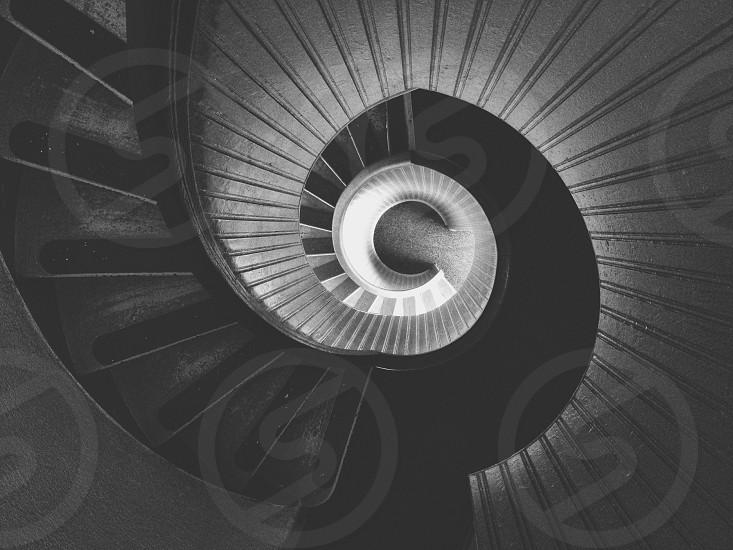 gray metal spiral staircase photo