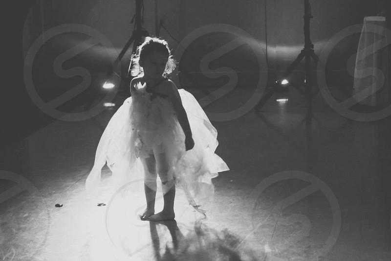girl in white tutu on stage photo