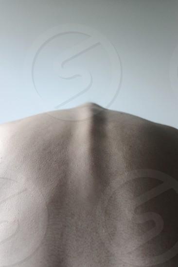 human body spine back minimal skin flesh male man boy photo