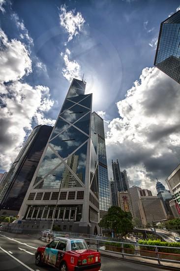 Hong Kong China HDR Building photo
