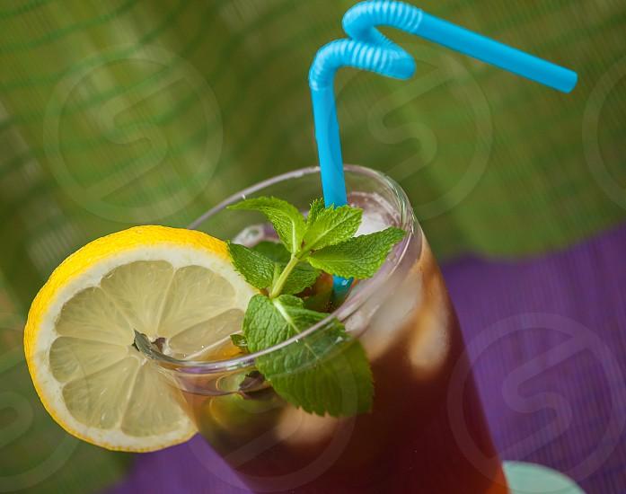 ice tea lemon photo