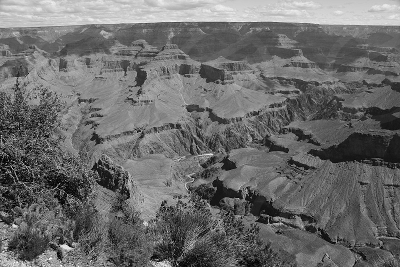 Grand Canyon overlook. Colorado River at the bottom center. photo