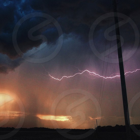 lightning in the sky view photo
