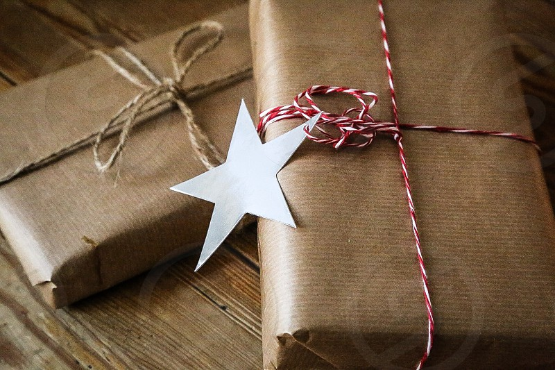 Presents present packages paper star Christmas photo