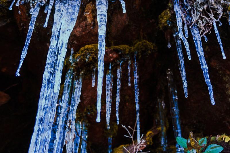 Frozen Waterfall in North Carolina. photo