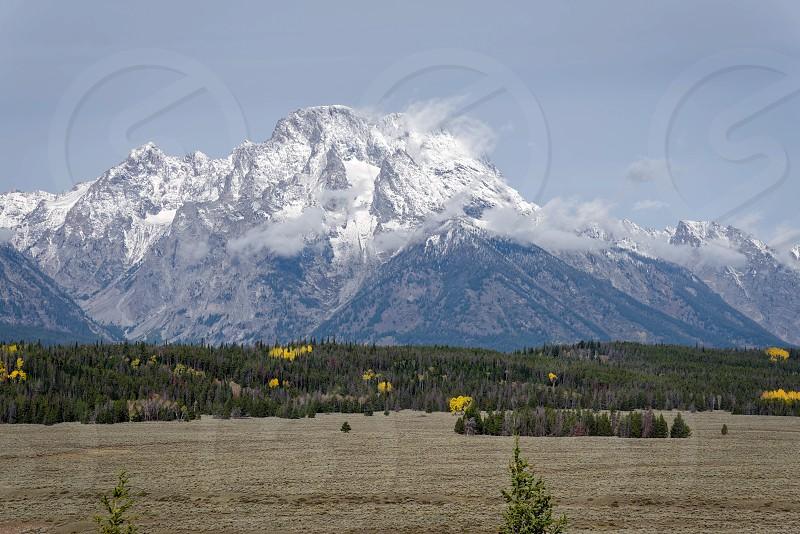 View of the Grand Teton Mountain Range photo