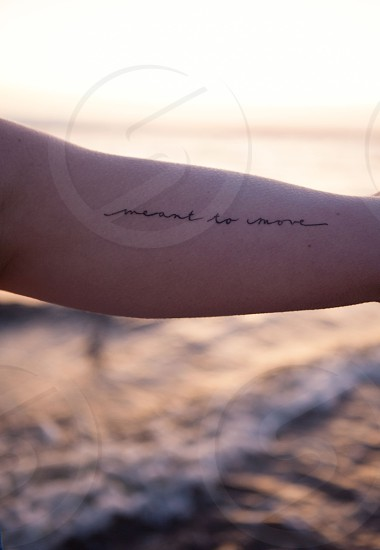 human black tattoo  photo