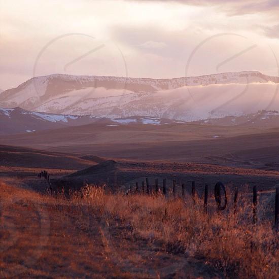 Montana Rockies at golden hour  photo