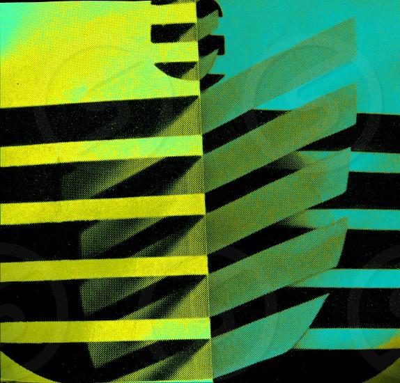 black and yellow stripe paper photo