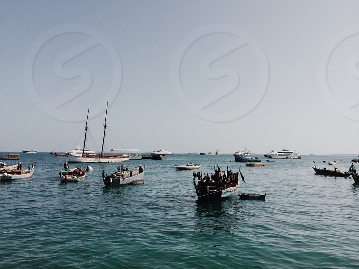 Zanzibar boats - west coast photo