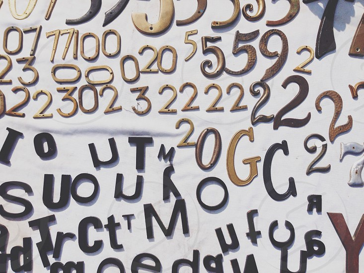 number and letter photography  photo