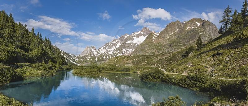 Alpine lake. photo