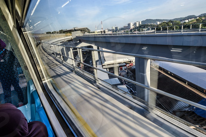 Train into the city photo