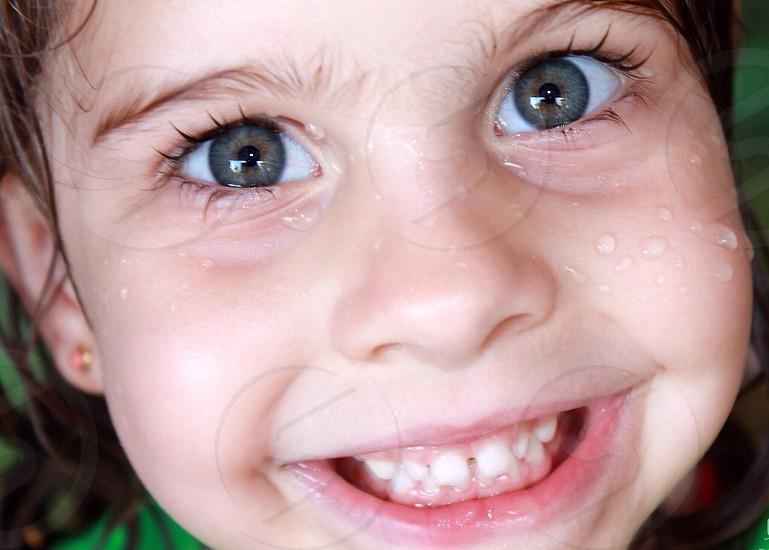 girl's face macro photography  photo