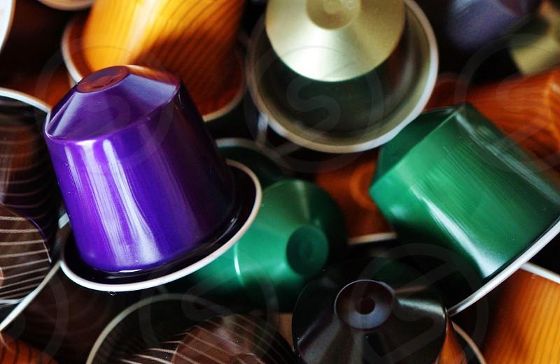 A purple espresso coffee pod photo
