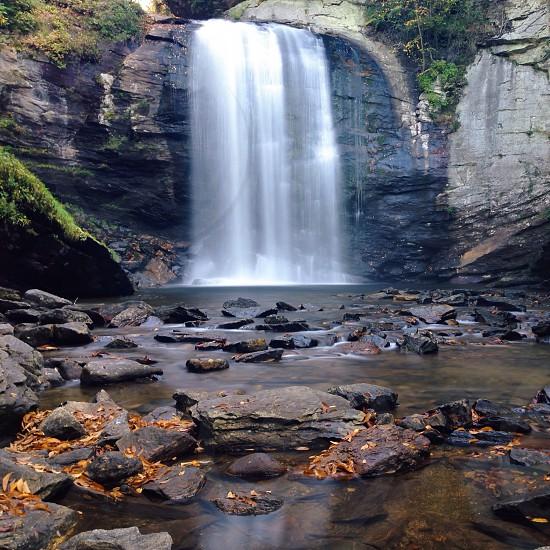 Rock waterfall photo