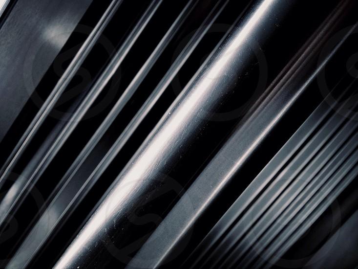 black vertical blinds photo