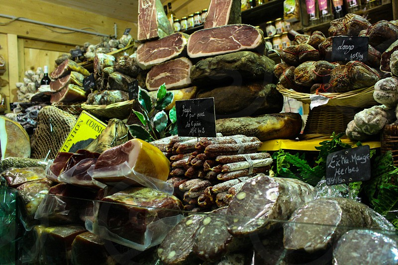 Local charcuterie in Paris photo