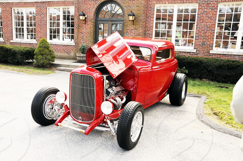 vehicle vroom vroom red classic red lipstick engine car classic photo