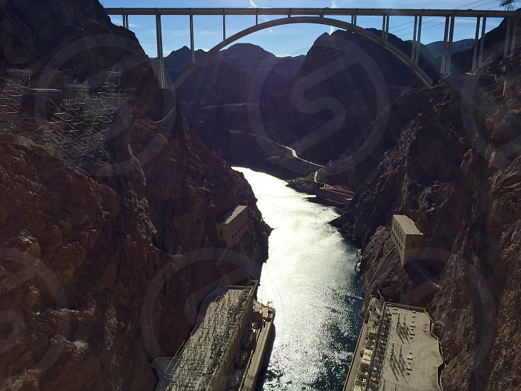 Hoover Dam in Nevada. #scenery #dam #history #water photo