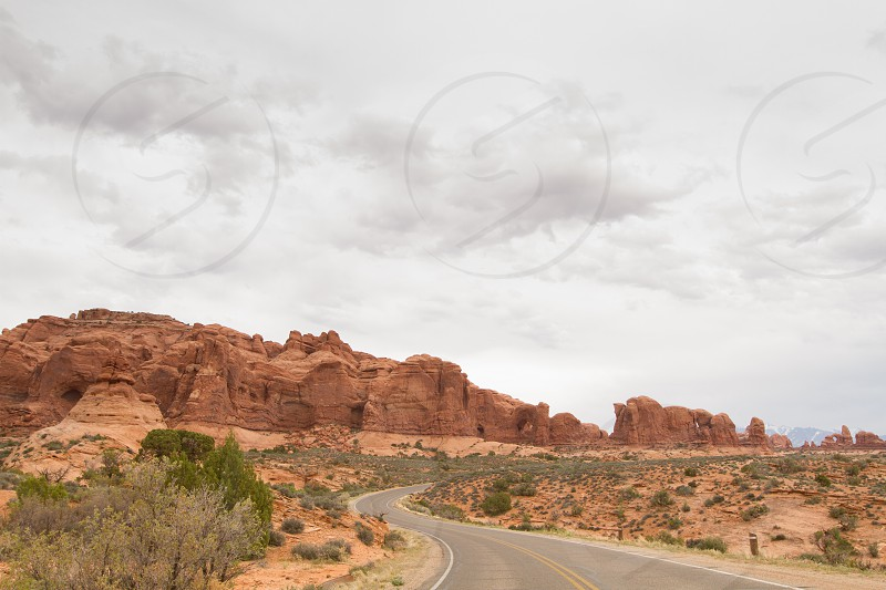 A road in Arches National Park photo