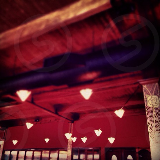 Lights lanterns ambience red photo