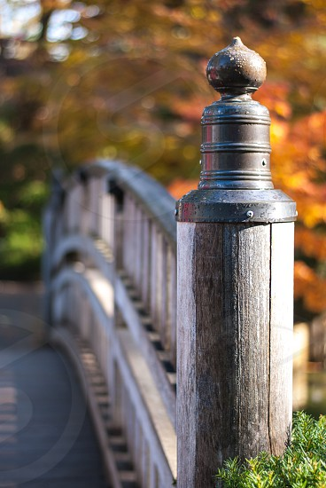 Bridge with autumn colors in the background photo